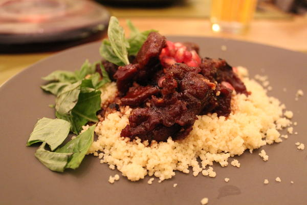 Pomegranate Lamb with Couscous