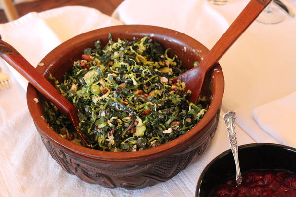 Kale and Brussels Sprouts Salad 2013