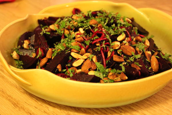 Beets with citrus and almonds
