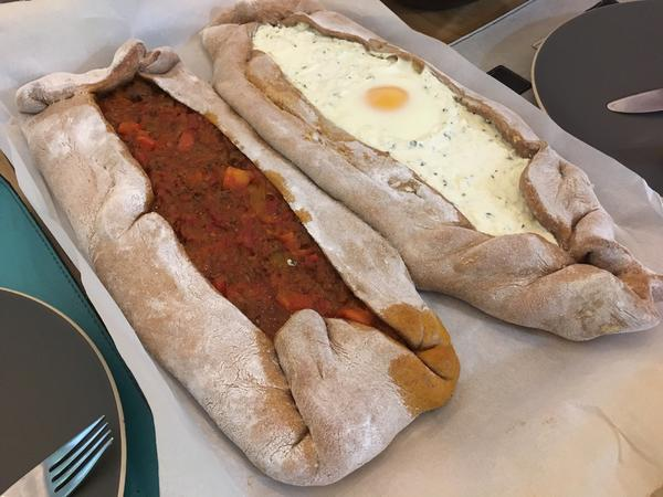 Pide (meat and cheese)