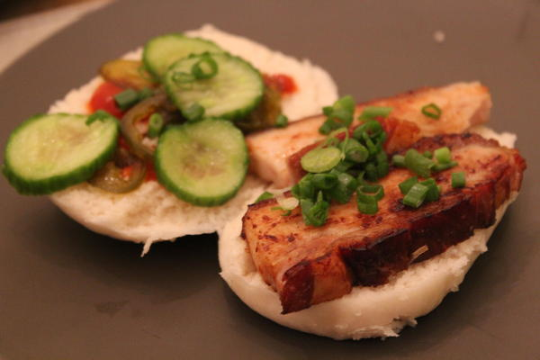 Pork Belly with Steamed Buns