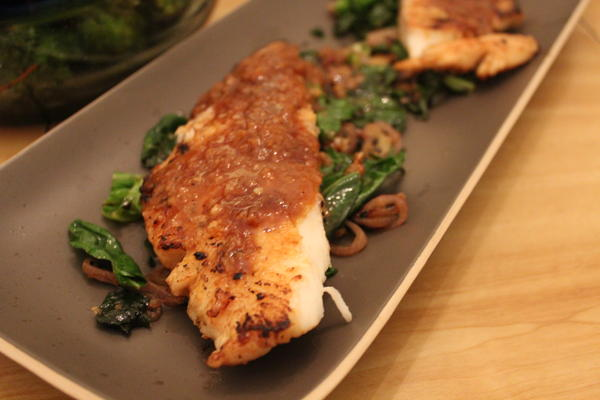 pan seared flounder
