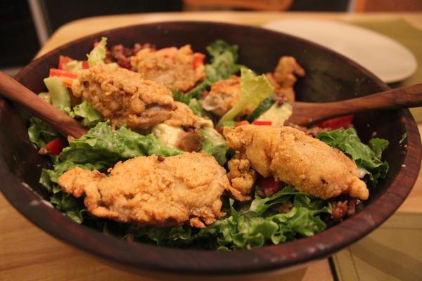 Oyster Po-Boy salad