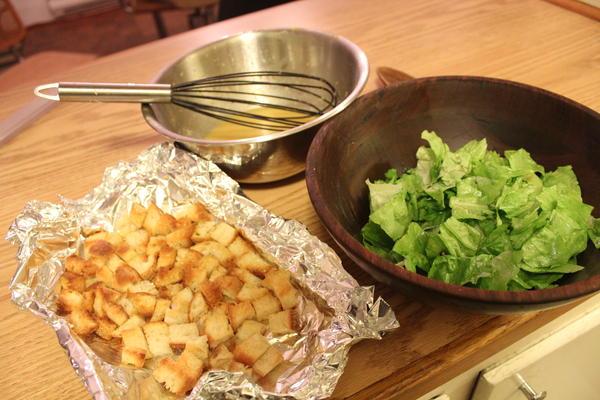 Caesar Salad components