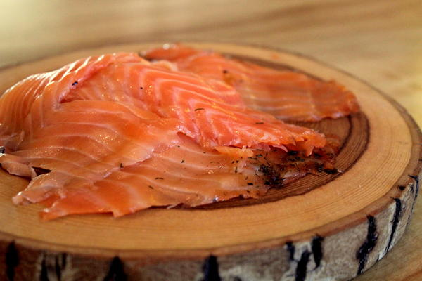 Juniper Cured Salmon Lox
