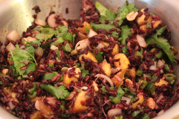 Black Rice with Mango Salad