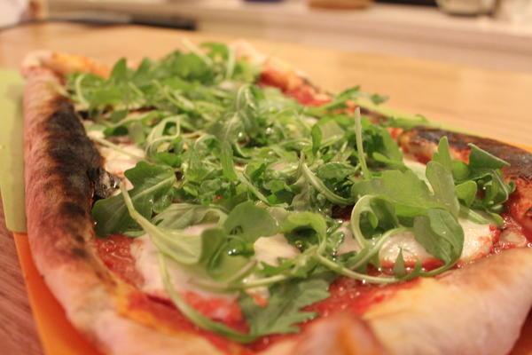 Neapolitan Pizza with Duck Prosciutto
